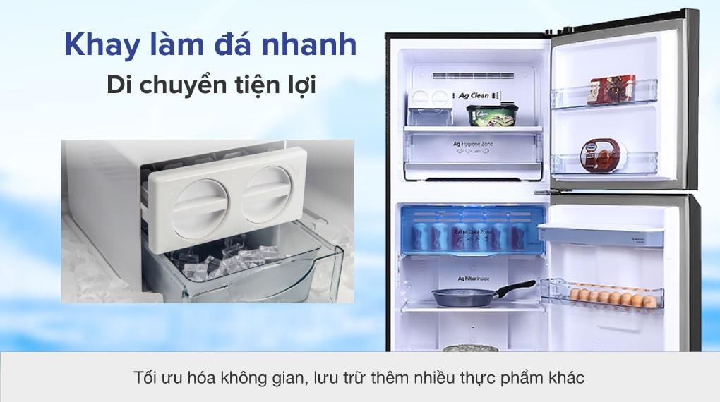 Tủ lạnh Panasonic Inverter 366 lít NR-TL381GPKV - Khay làm đá nhanh