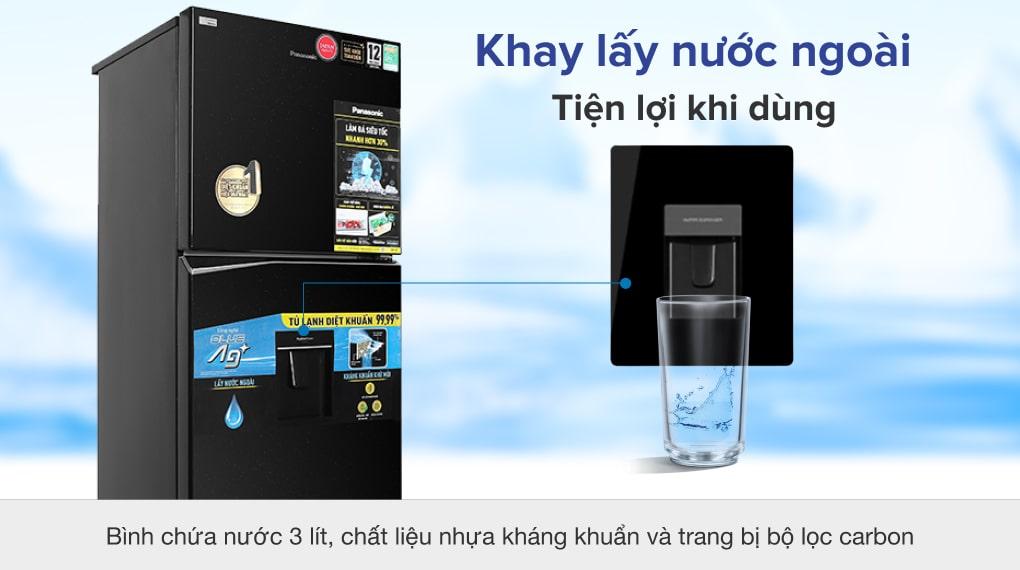 Tủ lạnh Panasonic Inverter 366 lít NR-TL381GPKV - Khay lấy đá bên ngoài
