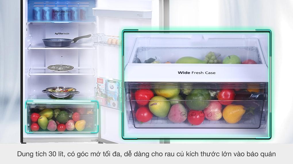 Tủ lạnh Panasonic Inverter 366 lít NR-TL381GPKV - Ngăn rau củ