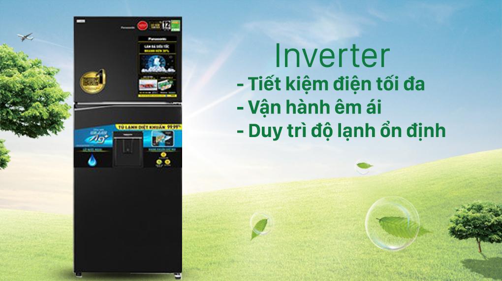 Tủ lạnh Panasonic Inverter 366 lít NR-TL381GPKV - Công nghệ Inverter và cảm biến Econavi