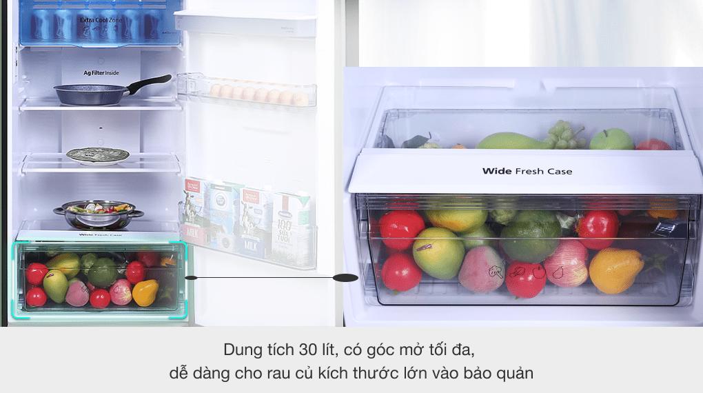 Tủ lạnh Panasonic Inverter 366 lít NR-TL381GPKV - Ngăn rau củ Wide Fresh Case