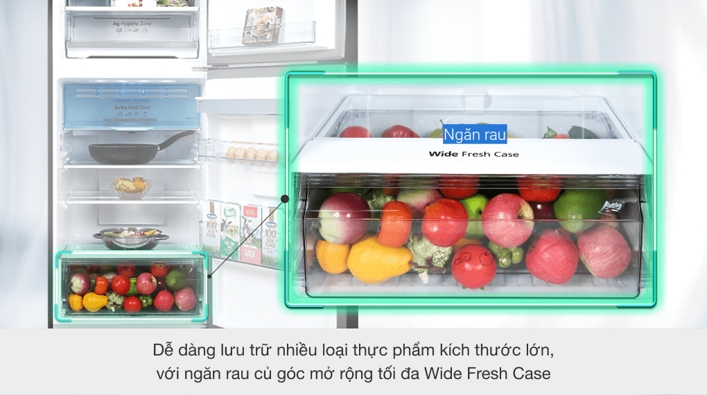Tủ lạnh Panasonic Inverter 326 lít NR-TL351GPKV - Ngăn rau quả