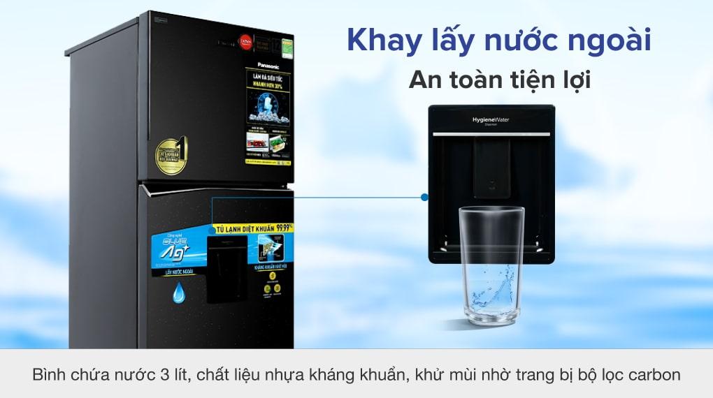 Tủ lạnh Panasonic Inverter 326 lít NR-TL351GPKV - Khay lấy nước ngoài