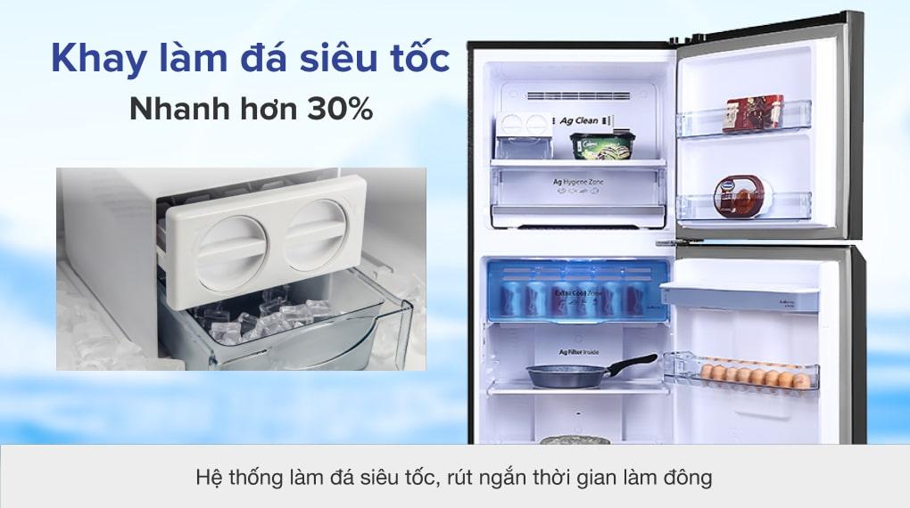 Tủ lạnh Panasonic Inverter 326 lít NR-TL351GPKV - Khay làm đá siêu tốc