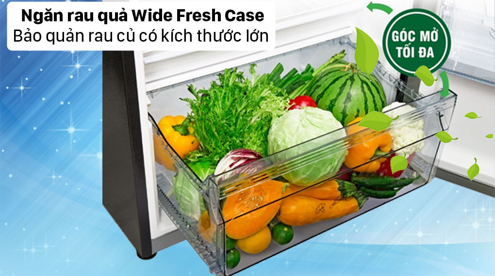 Tủ lạnh Panasonic Inverter 326 lít NR-TL351GPKV - Ngăn rau củ Wide Fresh Case
