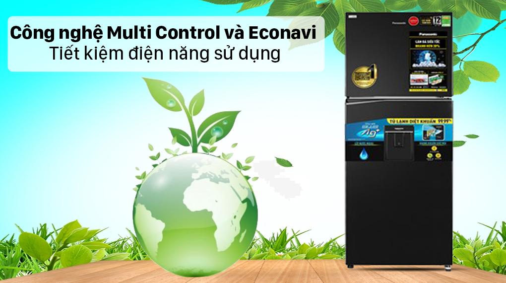 Tủ lạnh Panasonic Inverter 326 lít NR-TL351GPKV - Công nghệ Multi Control và Econavi