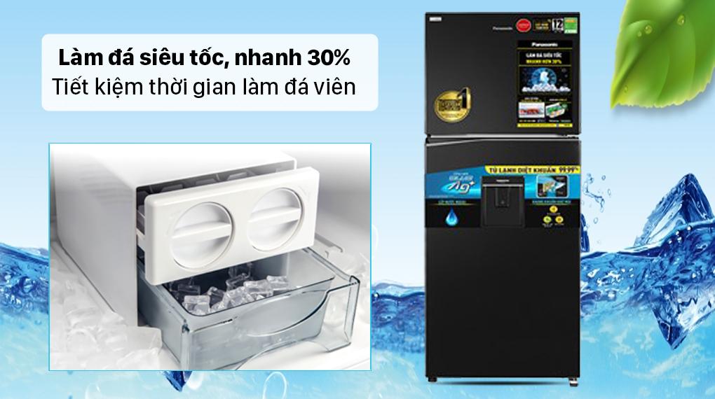 Tủ lạnh Panasonic Inverter 326 lít NR-TL351GPKV - Làm đá nhanh