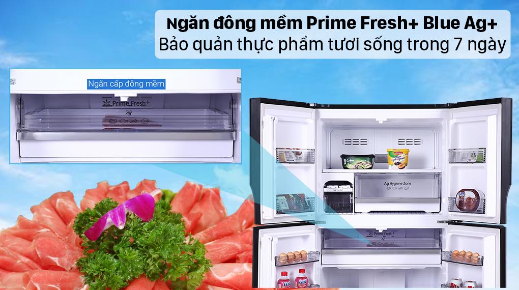 Tủ lạnh Panasonic Inverter 550 lít NR-DZ601VGKV - Ngăn Prime Fresh+ Blue Ag+