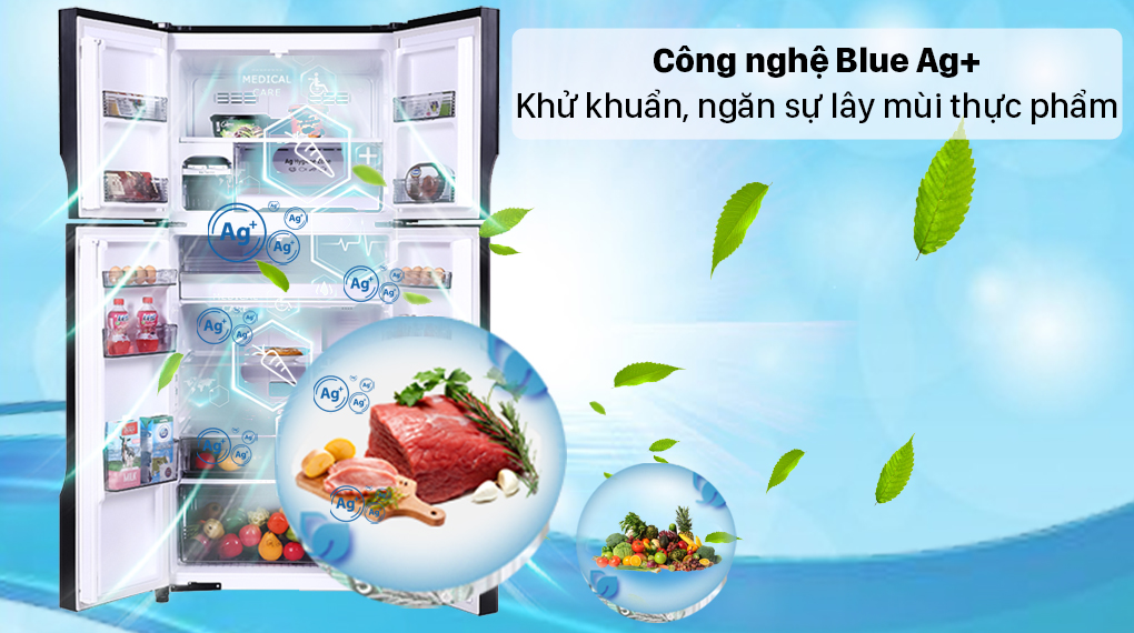 Tủ lạnh Panasonic Inverter 550 lít NR-DZ601VGKV - Công nghệ Blue Ag+