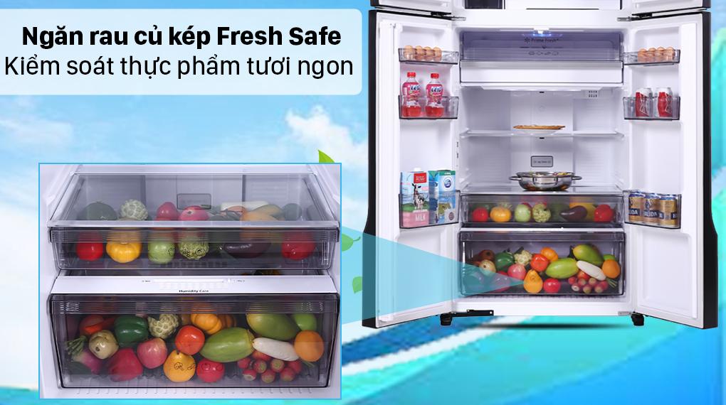 Tủ lạnh Panasonic Inverter 550 lít NR-DZ601VGKV - Ngăn rau củ Fresh Safe