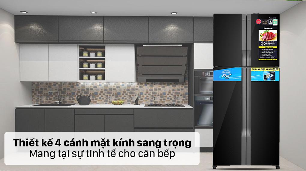 Tủ lạnh Panasonic Inverter 550 lít NR-DZ601VGKV - Thiết kế 4 cửa