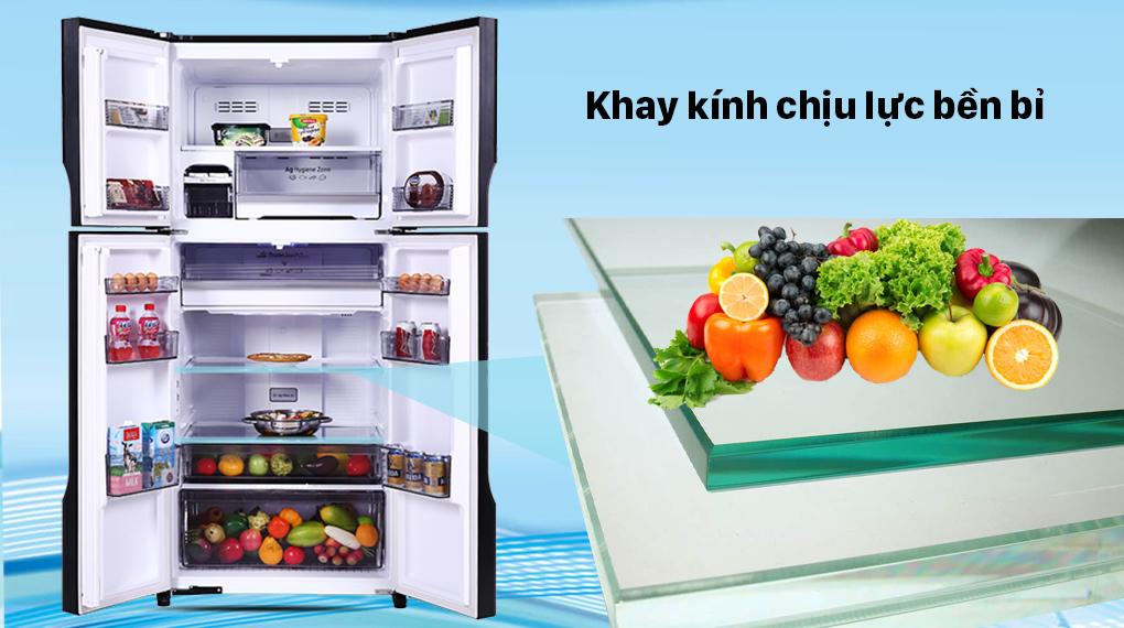 Tủ lạnh Panasonic Inverter 550 lít NR-DZ601VGKV - Khay kính chịu lực