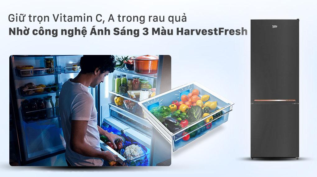 Giữ trọn Vitamin C, A trong rau quả nhờ công nghệ Ánh Sáng 3 Màu HarvestFresh