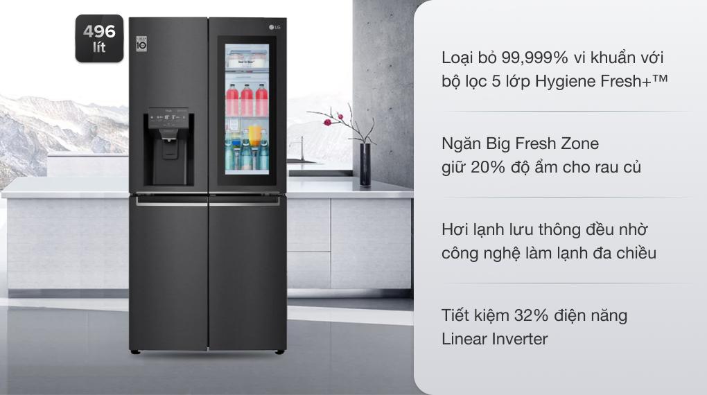 Tủ lạnh LG Inverter 496 lít GR-X22MB