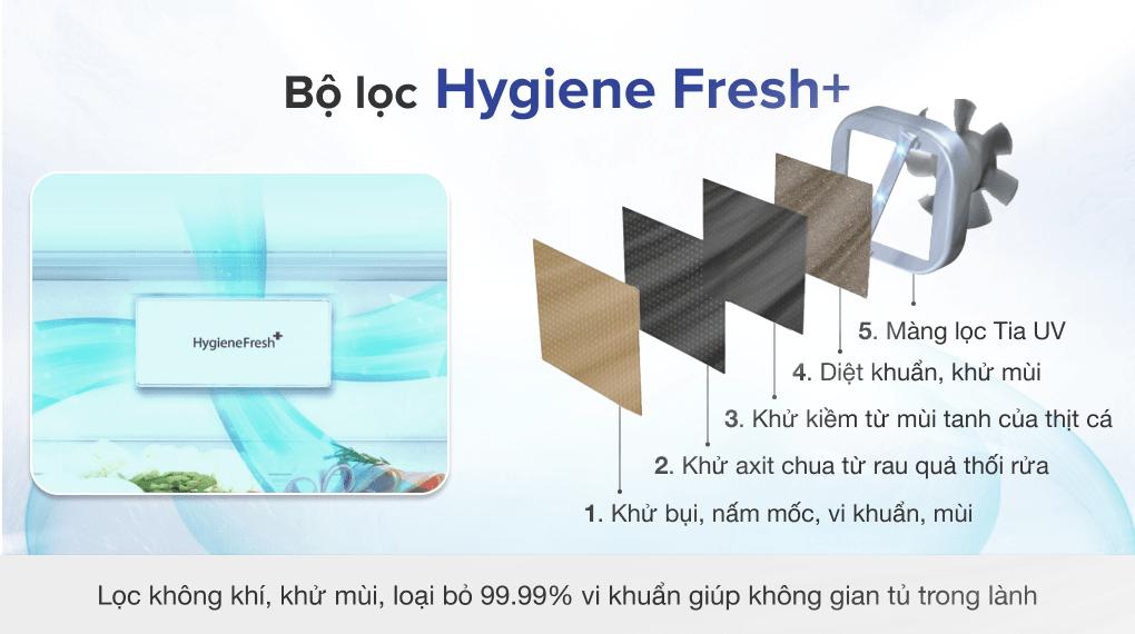 Tủ lạnh LG Inverter 496 lít GR-X22MB - Bộ lọc Hygiene Fresh+
