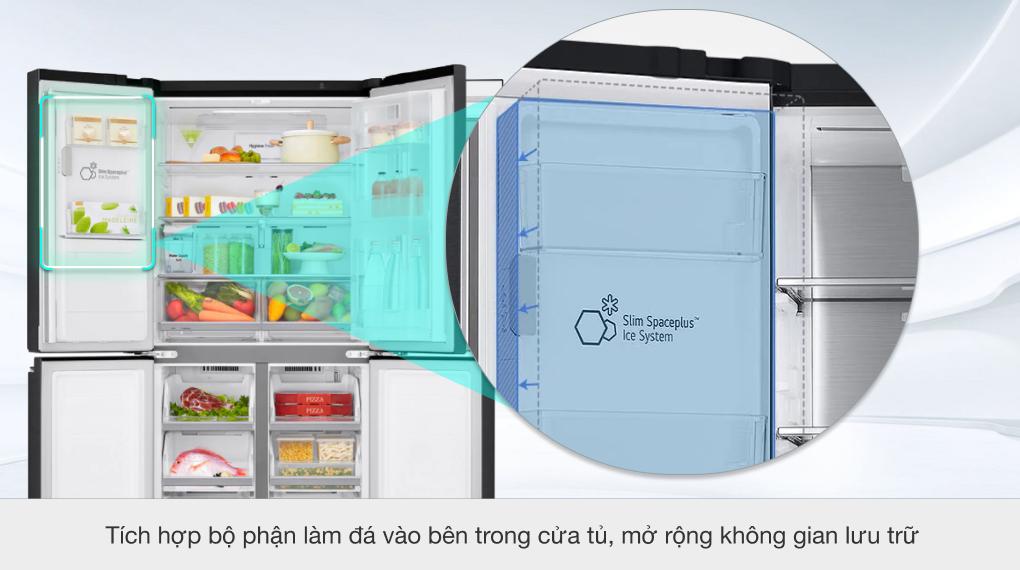 Tủ lạnh LG Inverter 496 lít GR-X22MB - Ngăn làm đá Slim SpacePlus