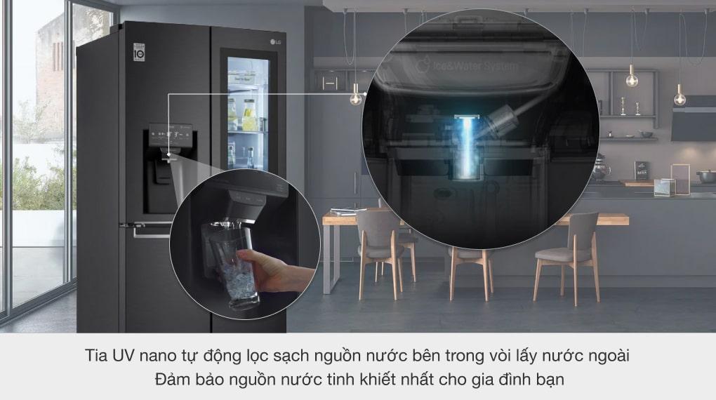 Tủ lạnh LG Inverter 496 lít GR-X22MB - Tia UV Nano