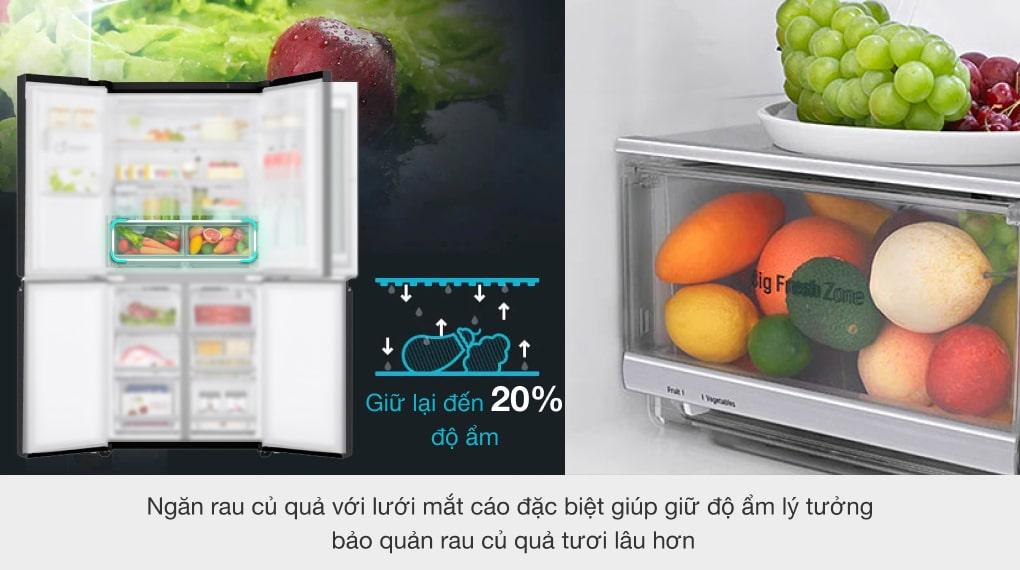Tủ lạnh LG Inverter 496 lít GR-X22MB - Ngăn rau củ Fresh Zone