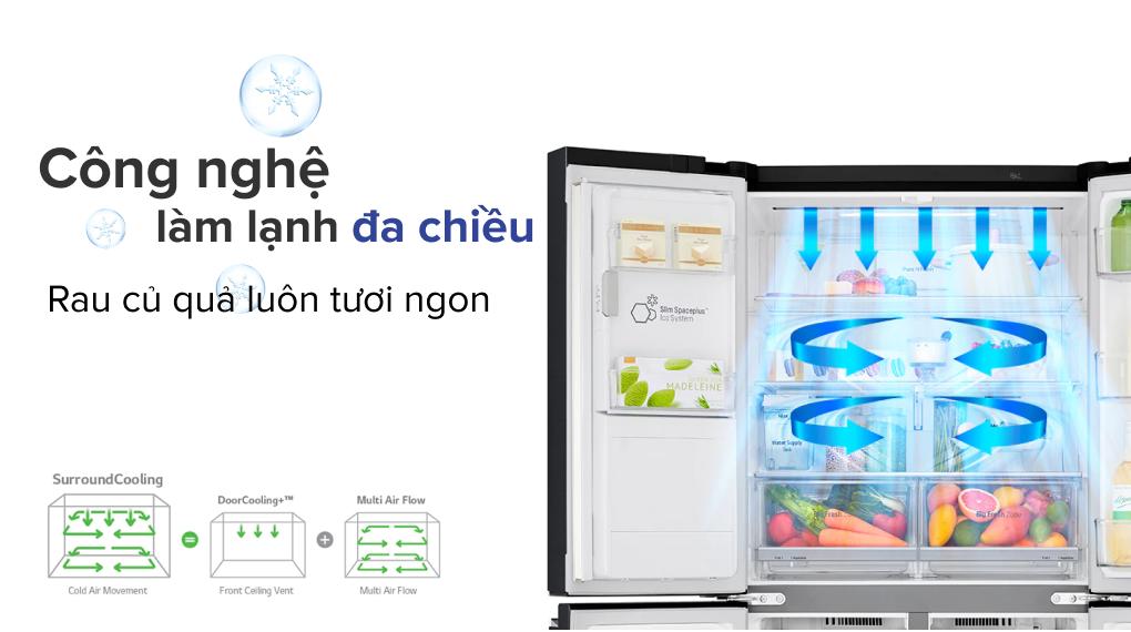 Tủ lạnh LG Inverter 496 lít GR-X22MB - Công nghệ làm lạnh đa chiều