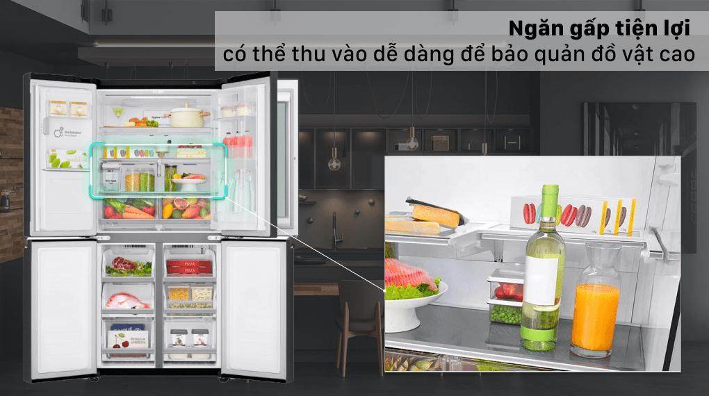 Tủ lạnh LG Inverter 496 lít GR-X22MB - Ngăn gấp tiện lợi