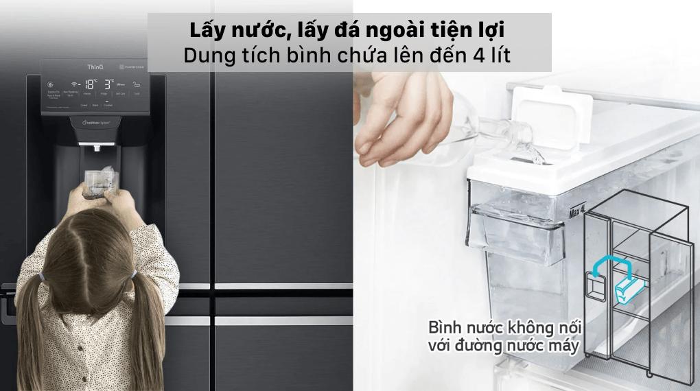 Tủ lạnh LG Inverter 496 lít GR-X22MB - Lấy nước, lấy đá bên ngoài tiện lợi