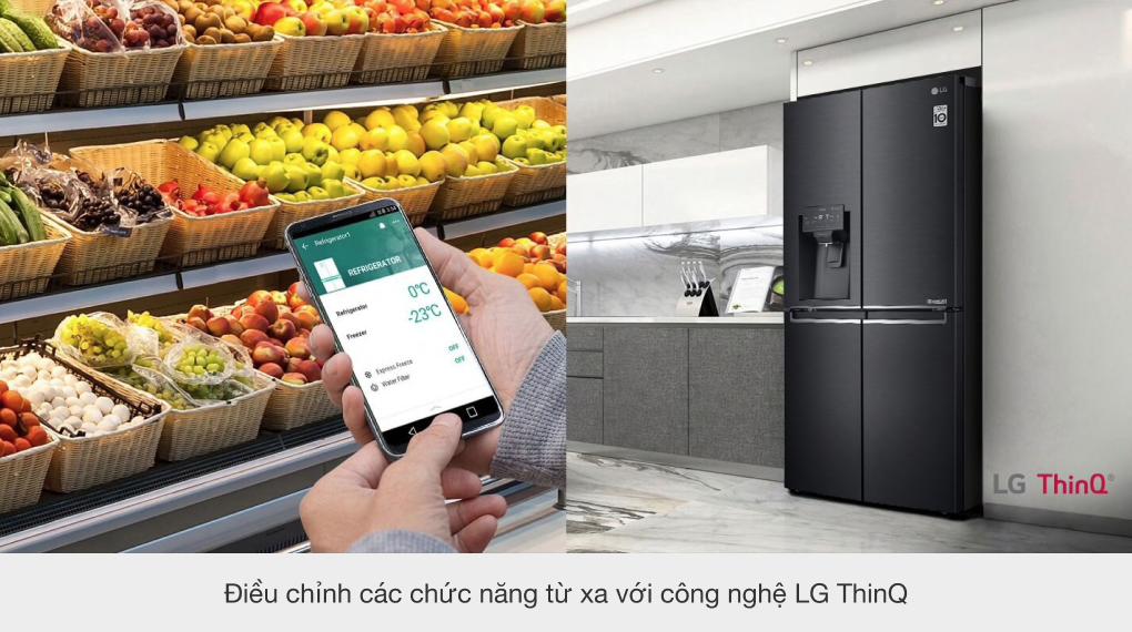 Tủ lạnh LG Inverter 494 lít GR-D22MB - Chức năng ThinkQ