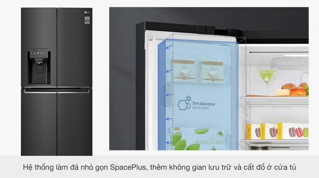 Tủ lạnh LG Inverter 494 lít GR-D22MB - Hệ thống làm đá