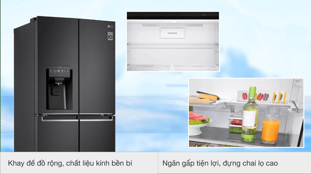 Tủ lạnh LG Inverter 494 lít GR-D22MB - Khay để đổ rộng