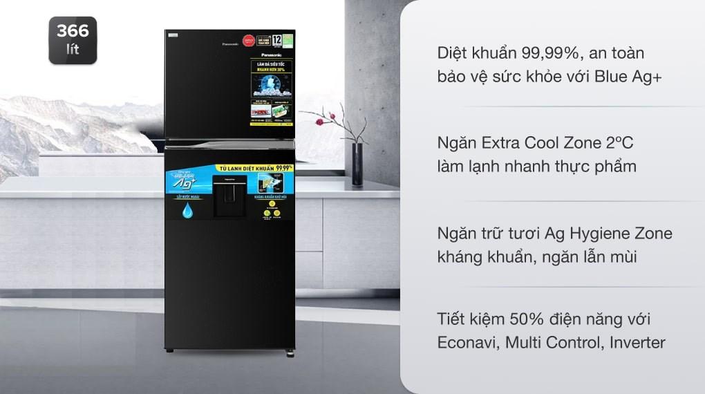 Tủ lạnh Panasonic Inverter 405 lít NR-TX461GPKV