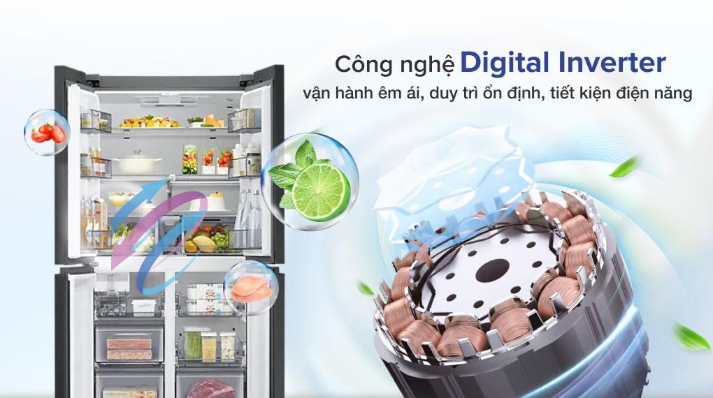 Tủ lạnh Samsung Inverter 599 lít RF60A91R177/SV - Vận hành bền bỉ, tiết kiệm điện năng với công nghệ Digital Inverter