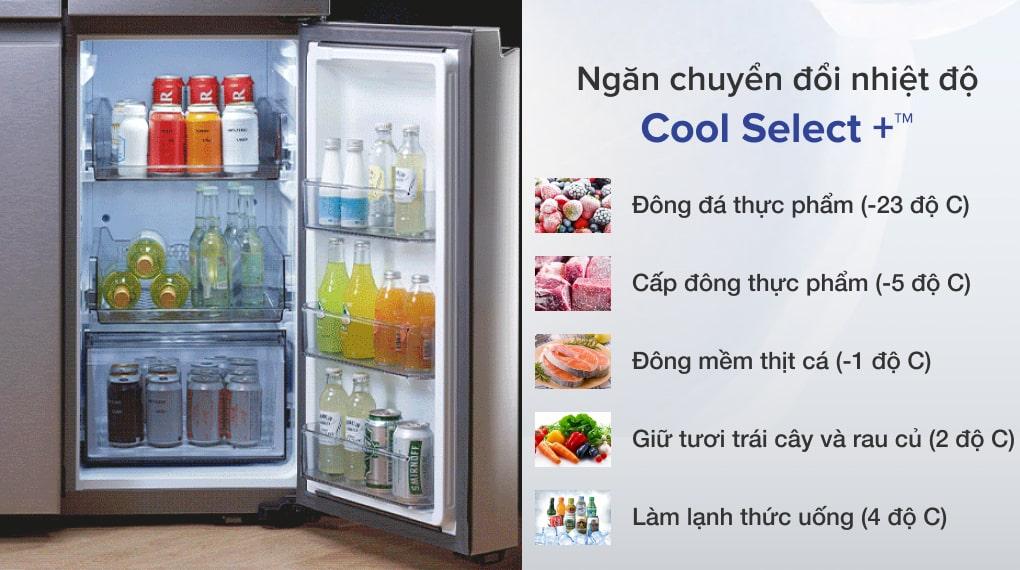 Tủ lạnh Samsung Inverter 599 lít RF60A91R177/SV  - Ngăn linh hoạt Cool Select +™ chuyển đổi 5 chế độ tùy thuộc nhu cầu sử dụng.