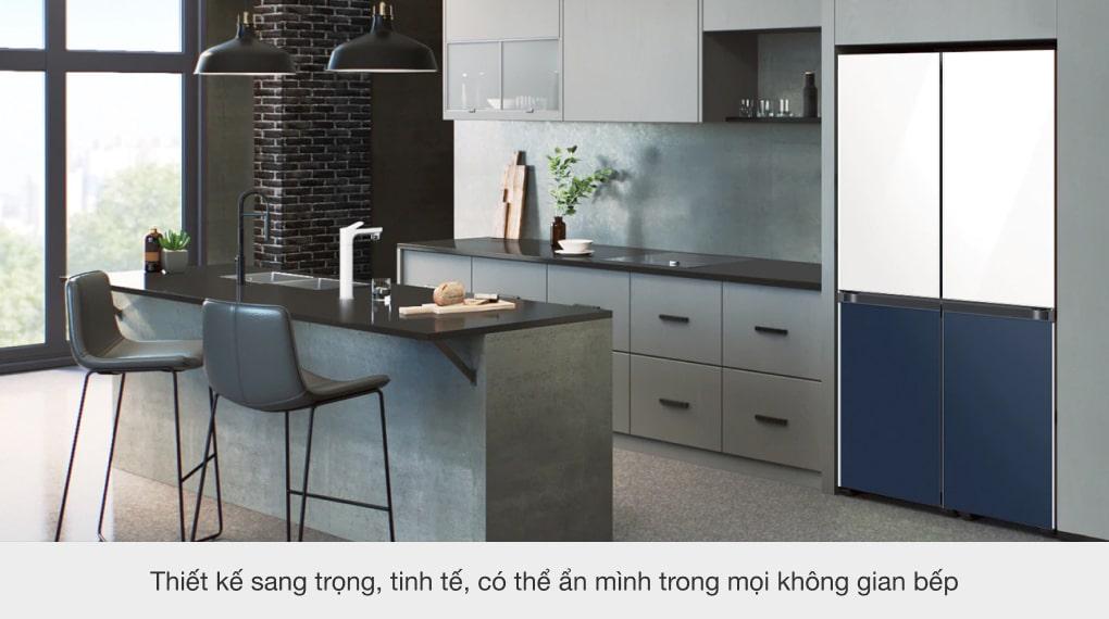 Tủ lạnh Samsung Inverter 599 lít RF60A91R177/SV - Thiết kế sang trọng, tinh tề và có thể ẩn mình trong mọi căn bếp