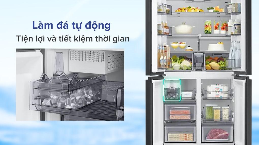 Tủ lạnh Samsung Inverter 599 lít RF60A91R177/SV - Tiện lợi và tiết kiệm thời gian hơn với tiện ích làm đá tự động