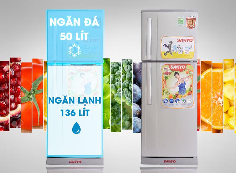 Thiết kế tủ lạnh gọn gàng, tiết kiệm diện tích