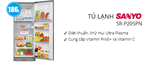 Tủ lạnh Sanyo 186 lít SR-P205PN