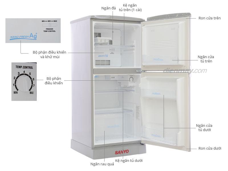 Thông số kỹ thuật Tủ lạnh Sanyo SR-125PN 110 lít