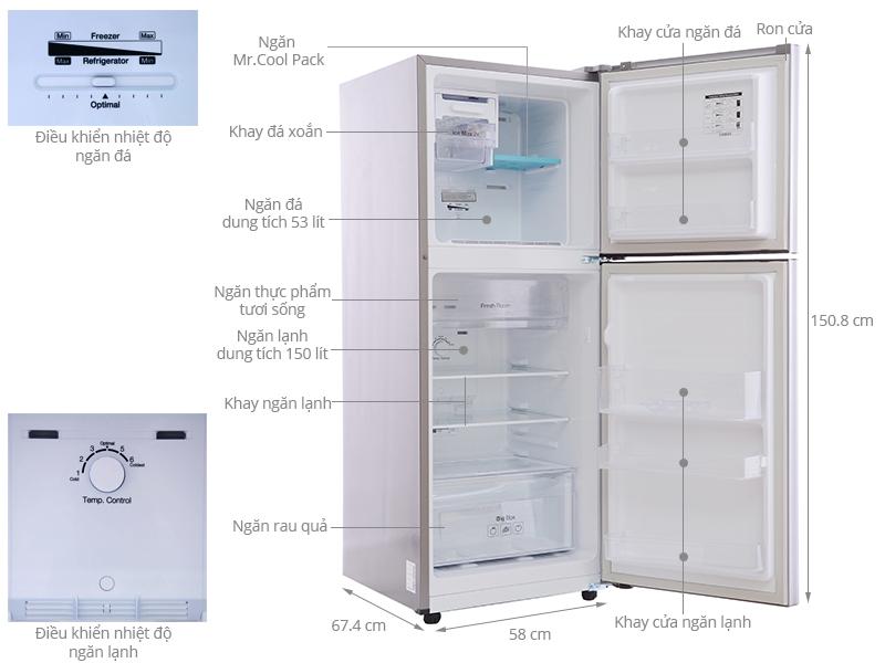 Thông số kỹ thuật Tủ lạnh Samsung 203 lít RT20FARWDSA