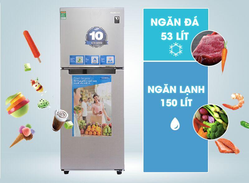 Tủ lạnh Samsung RT20FARWDSA có dung tích 203 lít
