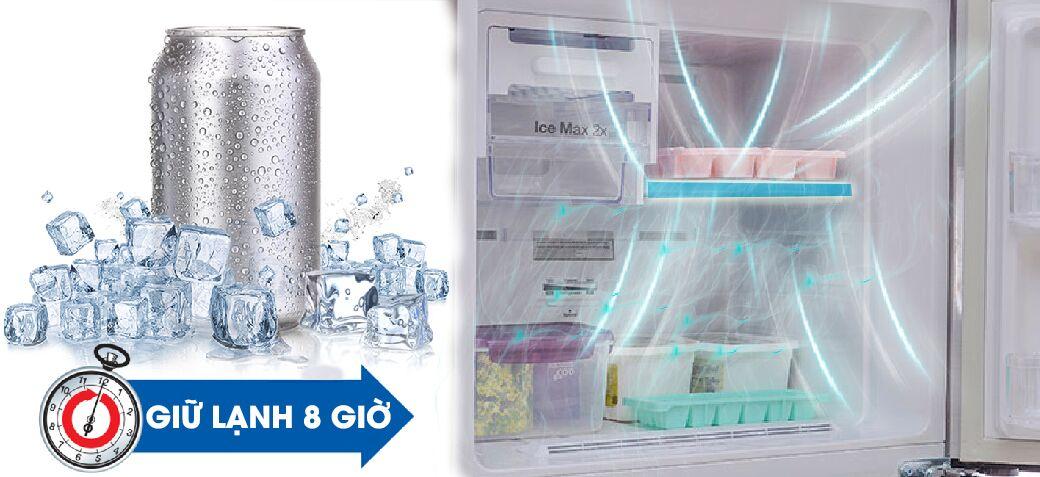 Công nghệ Mr. Coolpack cùng với công nghệ đóng kín tăng cường giúp cho tủ lạnh Samsung RT20FARWDSA có thể lưu giữ nhiệt độ lạnh dưới 0 độ C trong một thời gian lâu hơn
