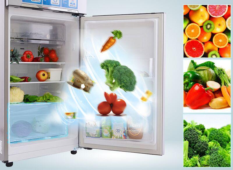 Với ngăn rau củ được ổn định độ ẩm, các bạn sẽ có thể bảo quản những thứ thực phẩm tươi này một thời gian lâu hơn bên trong tủ lạnh Samsung RT20FARWDSA