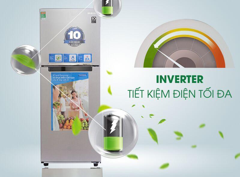 Công nghệ Inverter được tích hợp trong tủ lạnh Samsung RT20FARWDSA nhằm giảm đi sự hao phí điện năng