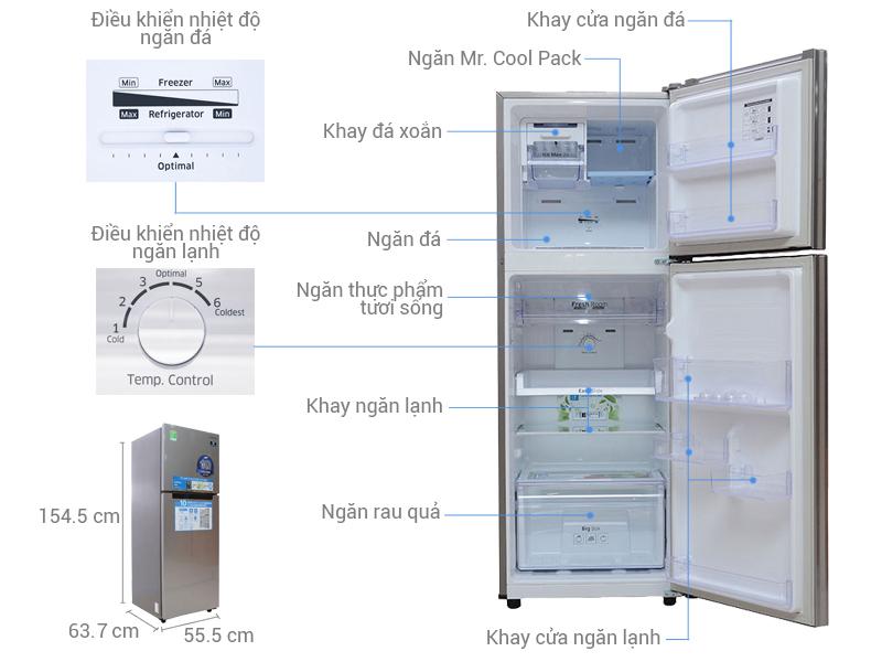 Thông số kỹ thuật Tủ lạnh Samsung 234 lít RT22FARBDSA