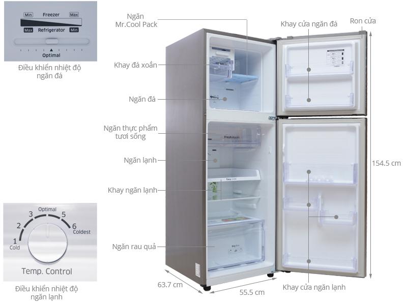 Tổng thể tủ lạnh