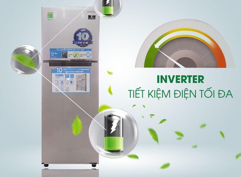 Tủ lạnh Samsung RT22FARBDSA được tích hợp công nghệ Inverter