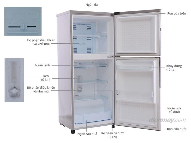 Thông số kỹ thuật Tủ lạnh Panasonic NR-BJ185SNVN 181 lít