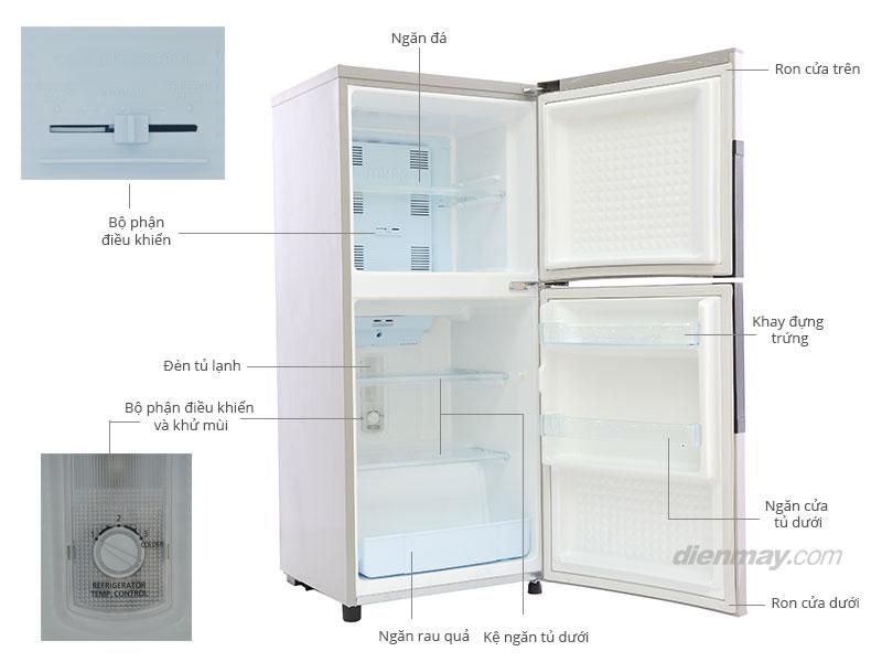 Thông số kỹ thuật Tủ lạnh Panasonic NR-BJ175SNVN 152 lít