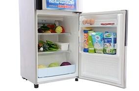 Tủ lạnh dung tích 166 lít phù hợp cho gia đình từ 3 đến 4 người