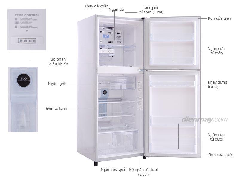 Thông số kỹ thuật Tủ lạnh Hitachi R-T190EG1 185 lít