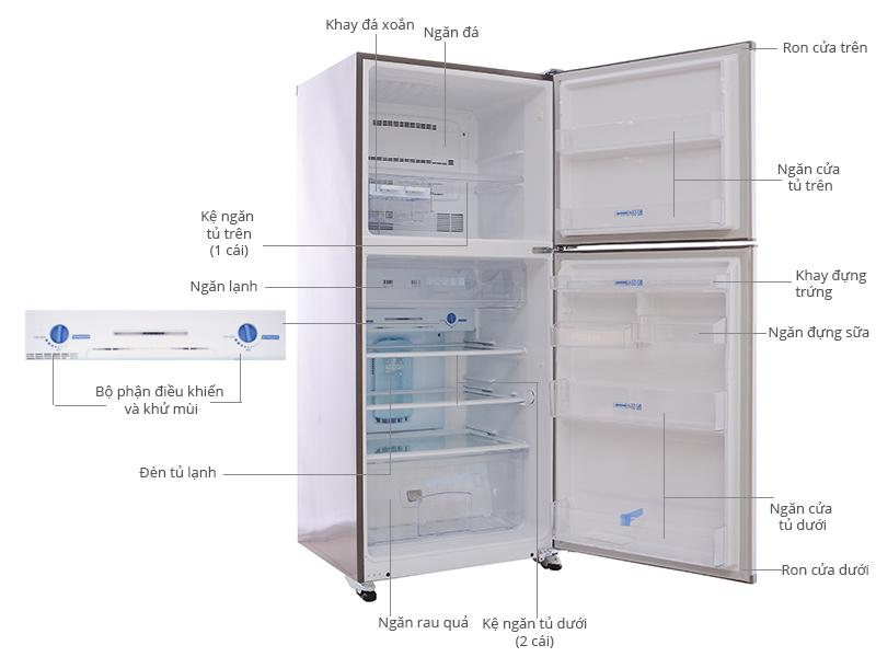 Thông số kỹ thuật Tủ lạnh Mitsubishi Electric MR-F42C 344 lít