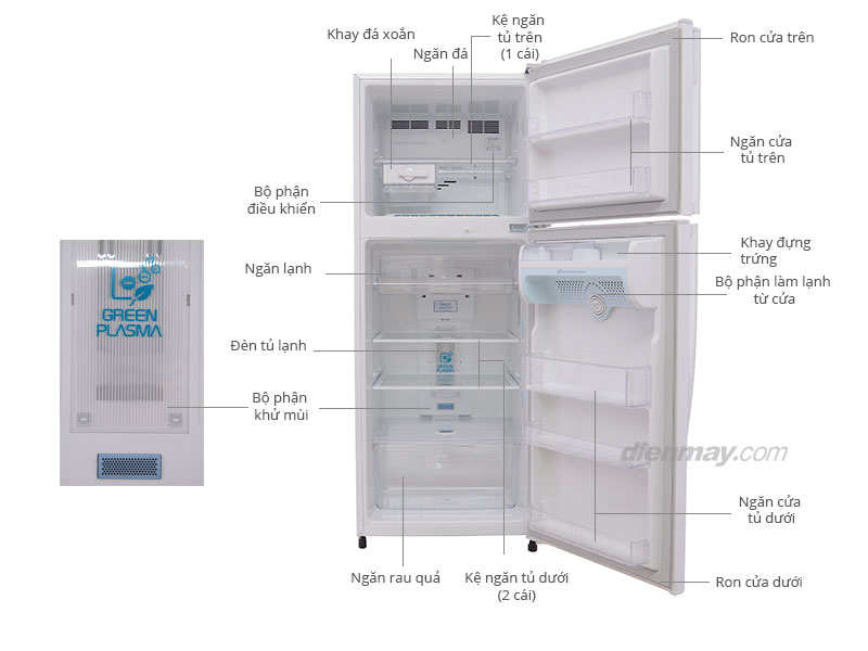 Thông số kỹ thuật Tủ lạnh LG GR-S362PG 306 lít
